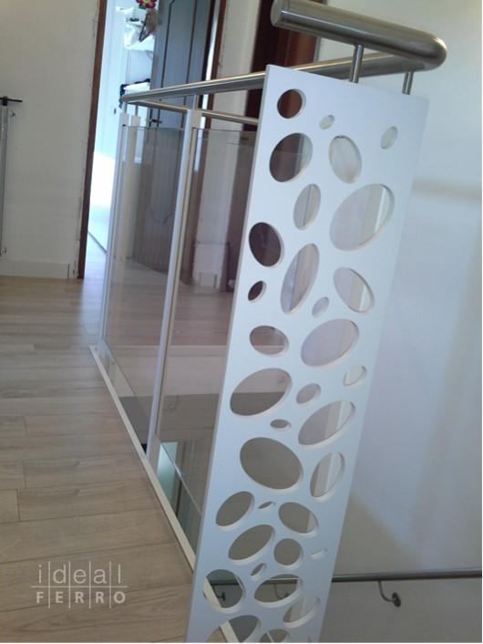 Ringhiera in ferro e acciaio idealferro - Scale in vetro e acciaio prezzi ...
