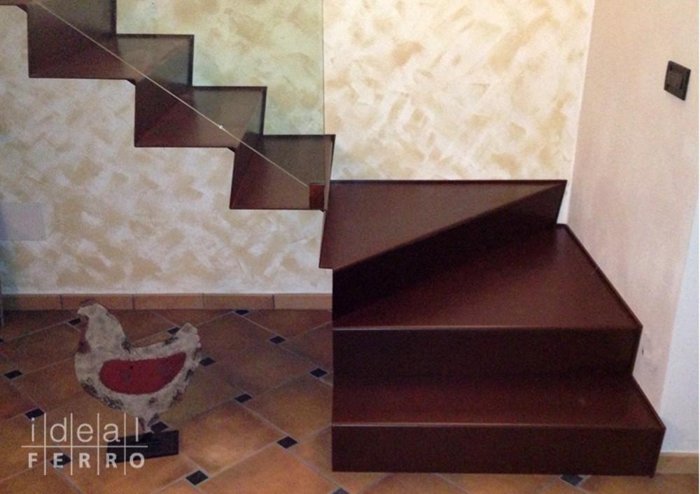 Scala in acciaio cor ten idealferro - Scale in lamiera piegata ...