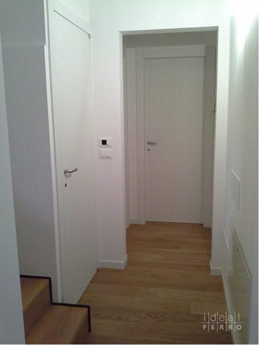 Porta in laminato bianco artico idealferro - Porta bianca laminato ...