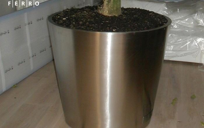 Porta vaso in acciaio inox