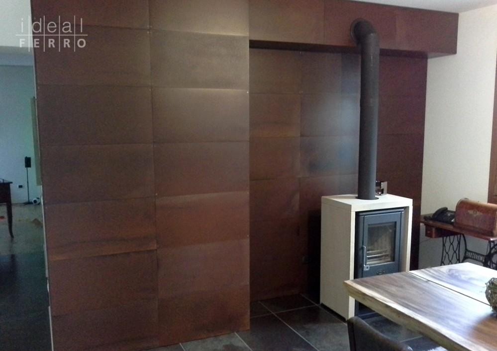 Rivestimento interno in acciaio cor ten idealferro - Rivestimento parete interna ...
