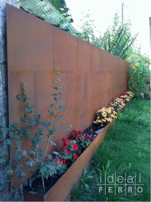 Nuovo rivestimento esterno in acciao cor ten idealferro - Rivestire muro esterno ...