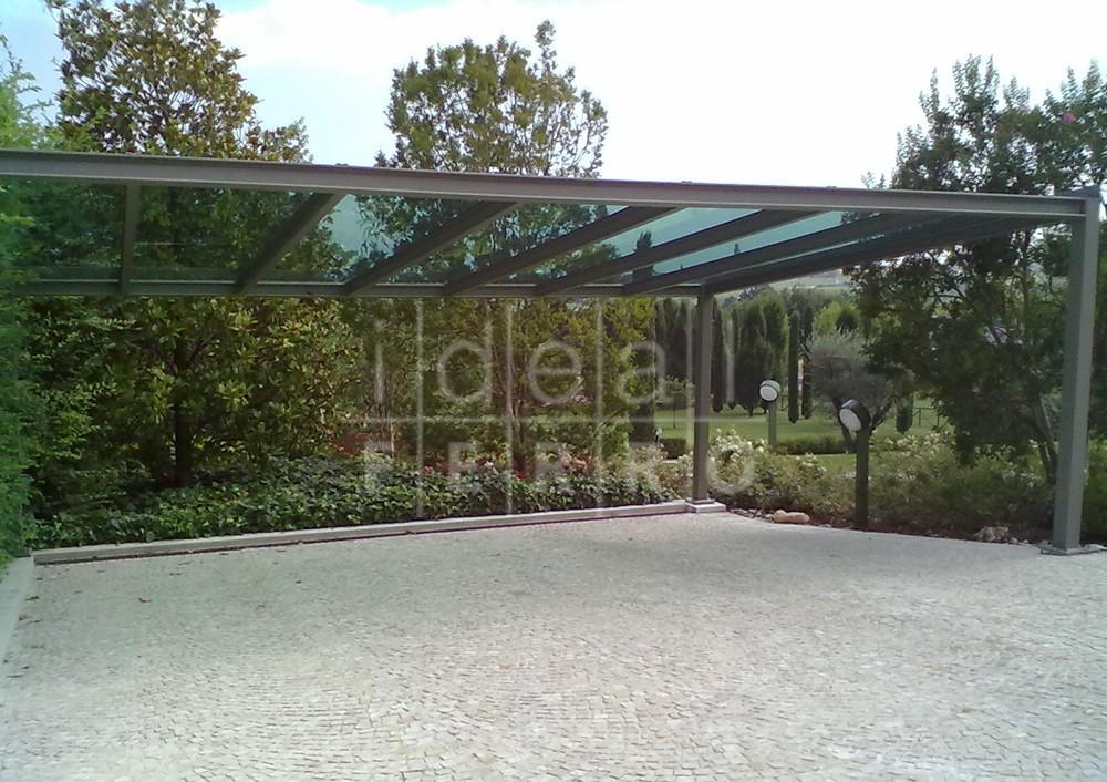Tettoia per auto con vetro Stopsol - Idealferro