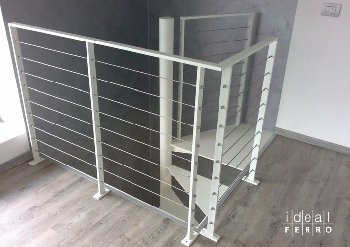 Preferenza Ringhiera in ferro con cavi in acciaio inox - Idealferro RY06