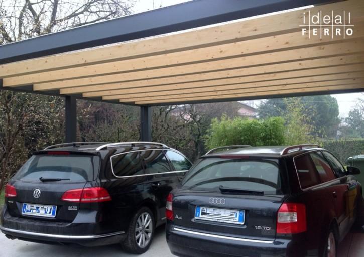 Carport ferro e legno (2)