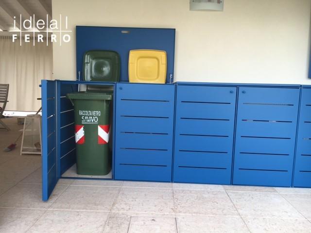 Armadio per l 39 inserimento dei contenitori rifiuti - Contenitori per cabina armadio ...